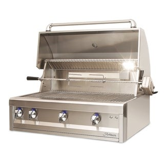 "Artisan 36"" Two Burner Grill Head with Rottiserie & Light"