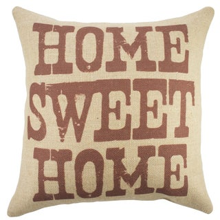 Home Sweet Home Burlap 18-inch Throw Pillow