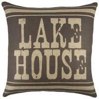 The Watson Shop Lake House Burlap 18-inch Throw Pillow