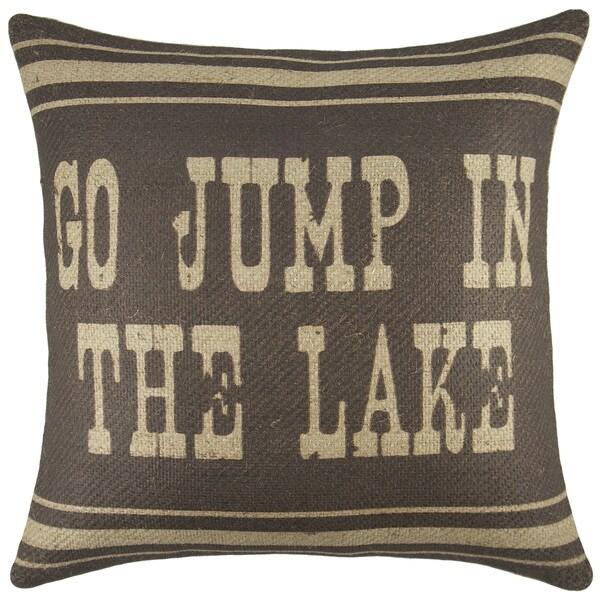 The Watson X27 Go Jump In Lake Burlap