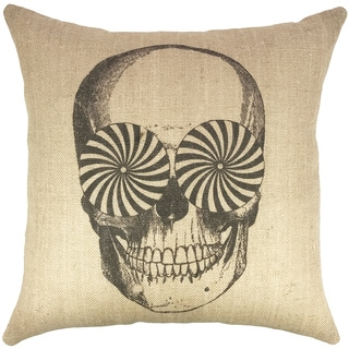 The Watson Shop Skull Burlap 18-inch Throw Pillow