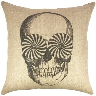 The Watson Shop Skull Burlap 18-inch Throw Pillow