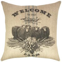 Sheep Farm Burlap 18-inch Throw Pillow