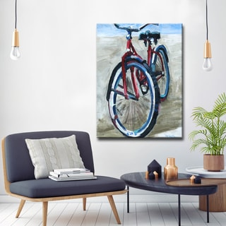 'Red Bike' Ready2HangArt Canvas by Dana McMillan