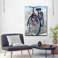'Red Bike' Ready2HangArt Canvas Wall Art by Dana McMillan - Red