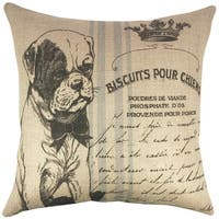 Dog Grainsack Burlap 18-inch Throw Pillow