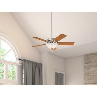 Hunter Pro's Best Five-minute Brushed-nickel 52-inch 5 Chestnut/Blackened Rosewood Reversible Blades Ceiling Fan