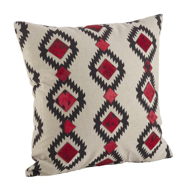 Southwestern Print Throw Pillows : Red & Black Southwestern Print Down Filled Throw Pillow - Free Shipping Today - Overstock.com ...