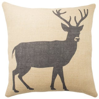 The Watson Shop Stag Burlap 18-inch Throw Pillow