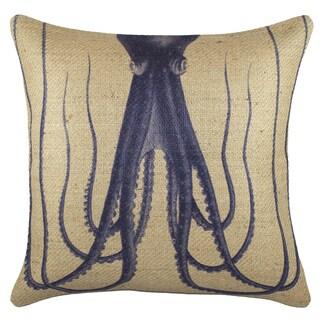 TheWatsonShop Octopus Burlap 18-inch Throw Pillow