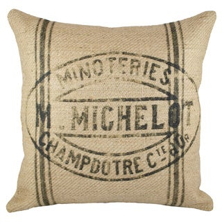 Grainsack Burlap 18-inch Throw Pillow