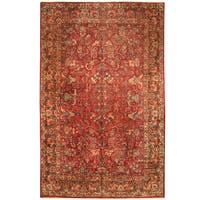 Handmade Herat Oriental Persian 1920s Antique Tribal Sarouk Wool Rug - 10' x 15'9 (Iran)
