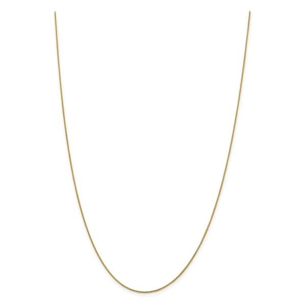 14K Yellow Neckalce 1.1MM 20 INCH Long 14k 1.1mm Solid Polished Spiga Chain