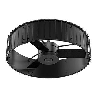 Hunter Fan 30-inch Matte/ Gloss Black Rustic Grain Oak Reversible Blades Ceiling Fan