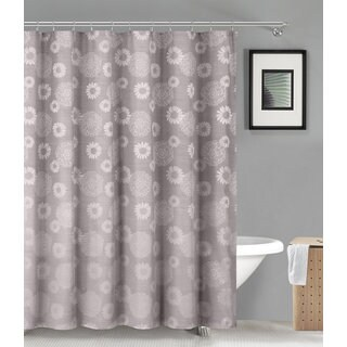 VALKIRIA LINEN/POLY SHOWER CURTAIN