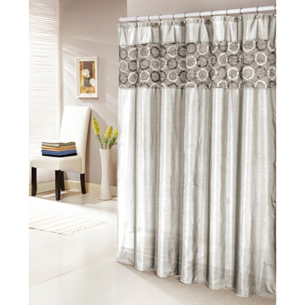 Lorena Faux Silk Shower Curtain - Free Shipping Today - Overstock ...