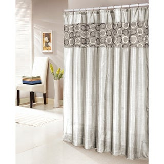 Lorena Faux Silk Shower Curtain