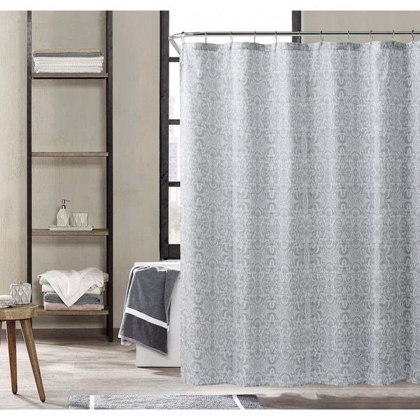Kensie Krisna Grey Shower Curtain