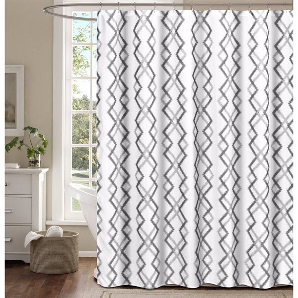 Kelsey Flocking Reversible Shower Curtain