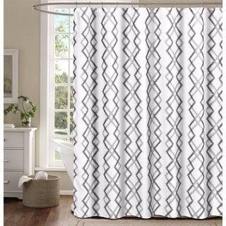 Kelsey Flocking Reversible Shower Curtain