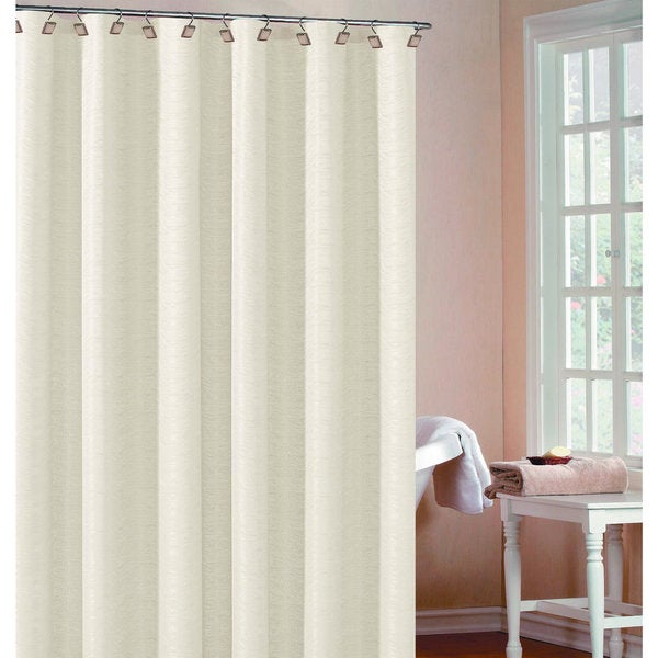 Heather Wave Fabric Shower Curtain