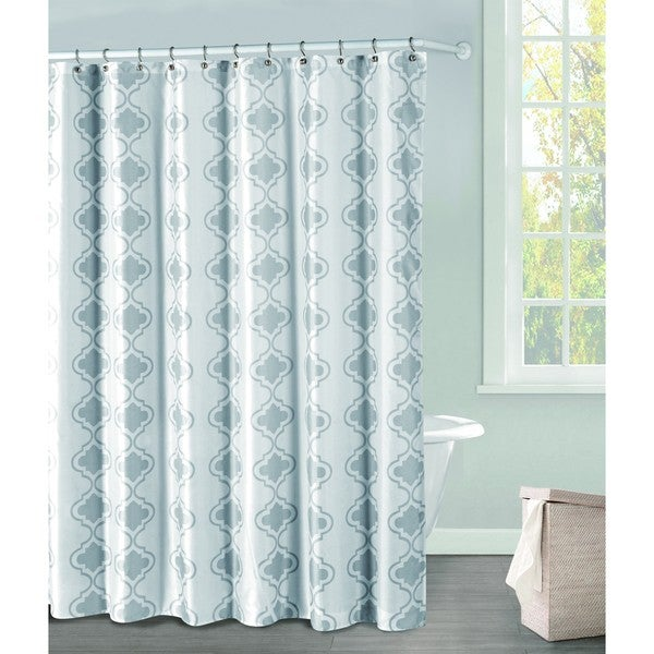 Crystal Grey PEVA 13-piece Shower Curtain Set