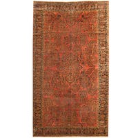Handmade Herat Oriental Persian 1920s Antique Tribal Sarouk Wool Rug (Iran) - 9'3 x 16'8