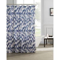 Caitlin Cotton-satin Look Fabric with Quilting Shower Curtain