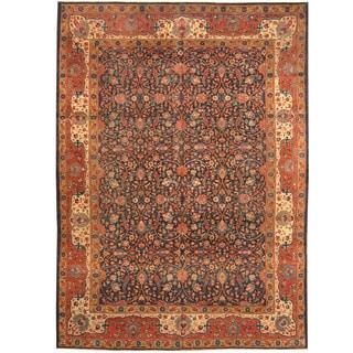 Herat Oriental Turkish Hand-knotted 1940s Semi-antique Tribal Sparta Wool Rug (9'6 x 13')