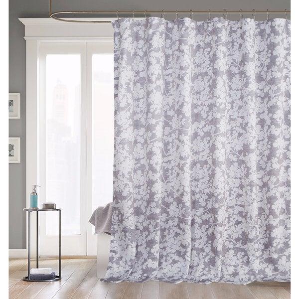 Kensie Ainna Grey Shower Curtain