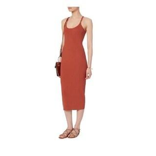 A.L.C. Women's Debi Rust Ribbed Tank Dress