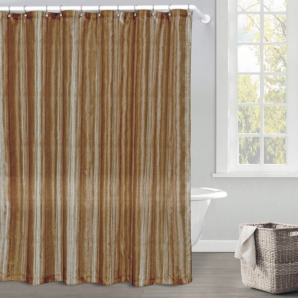 Sasha Ombre Faux Silk Shower Curtain - Free Shipping Today ...