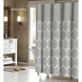 Quey Wrinkle Wave Fabric Shower Curtain