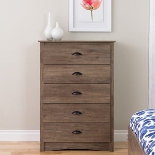 Laurel Creek Easton Driftwood Grey 5-drawer Chest