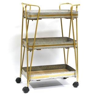 Jeco Metal 3-tier Storage Cart