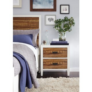 Montana White Lacquer / Natural Sengon Nightstand