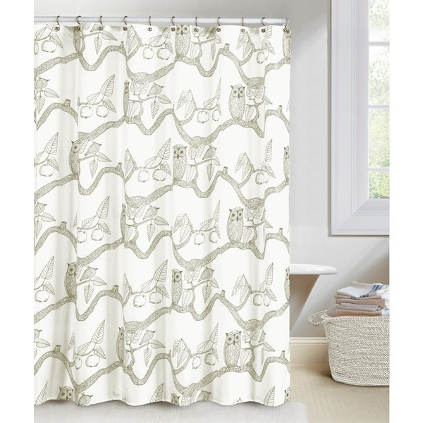 EVE OWL PRINT F/S SHOWER CURTAIN