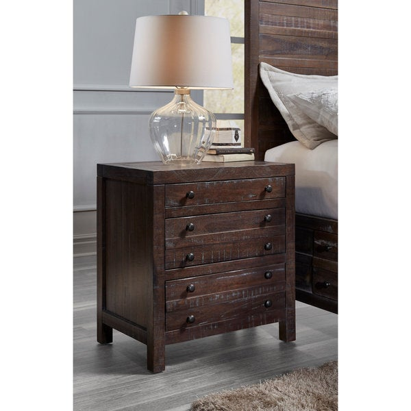 Townsend Java 3-drawer Solid Wood Nightstand