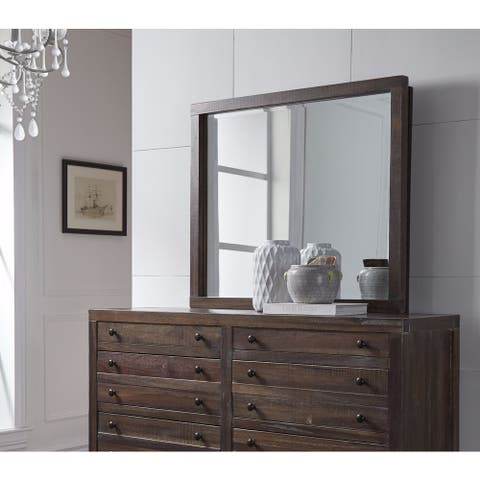 Townsend Java Solid Wood Mirror - Brown/Cherry - A/N