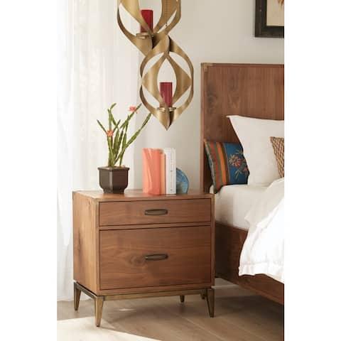 Adler Natural Walnut 2-drawer Nightstand