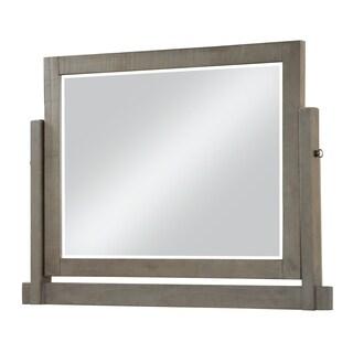 Austin Rustic Grey Solid Wood Tilt Mirror