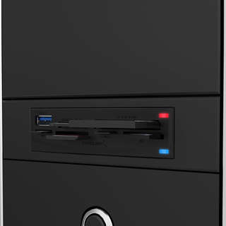 Sabrent Black Metal USB 3.0 Super Speed 74-In-1 3.5-Inch Internal Flash Media Card Reader