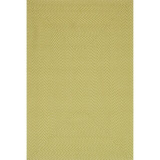 Indoor/ Outdoor Hand-woven Justin Rug (36 x 56) (Lime - 36 x 56)