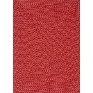 Indoor/ Outdoor Hand-woven Justin Rug (36 x 56) (Red - 36 x 56)