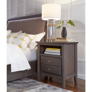 City II Basalt Grey 2-drawer Nightstand