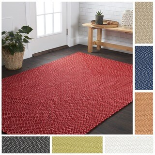 Indoor/ Outdoor Hand-woven Justin Rug (7'9 x 9'9) (4 options available)
