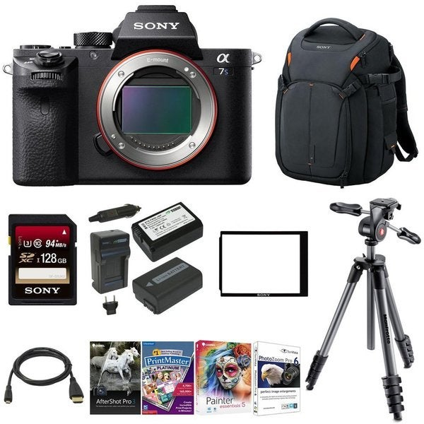 Sony Alpha a7SII Mirrorless Camera (Body Only) w/ Backpack & 128GB Card Bundle