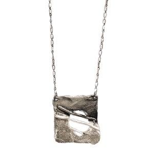 Silver Square Design Pendant Necklace
