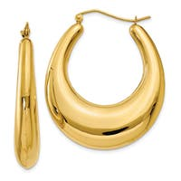 14 Karat Yellow Gold Polished Hoop Earrings