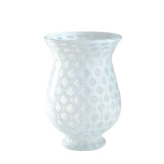 White Glass Art Vase